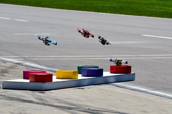 flying drone racing