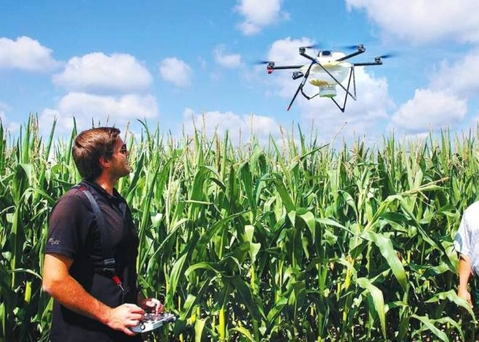 Using drones for farming
