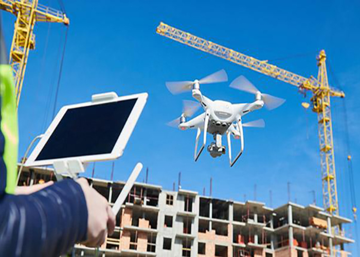 drones being used in the construction industry