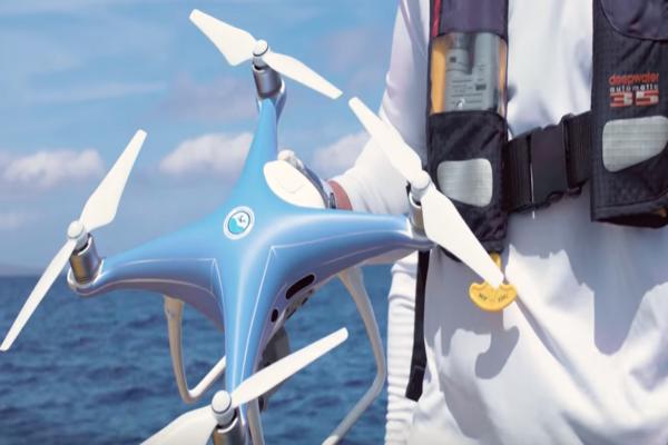 Drone on board boat