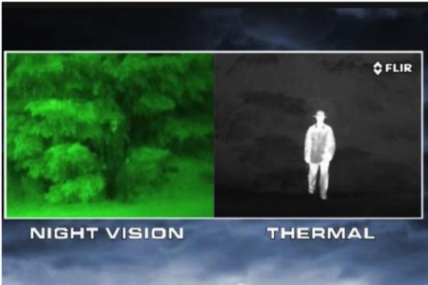 night vision camera vs thermal image