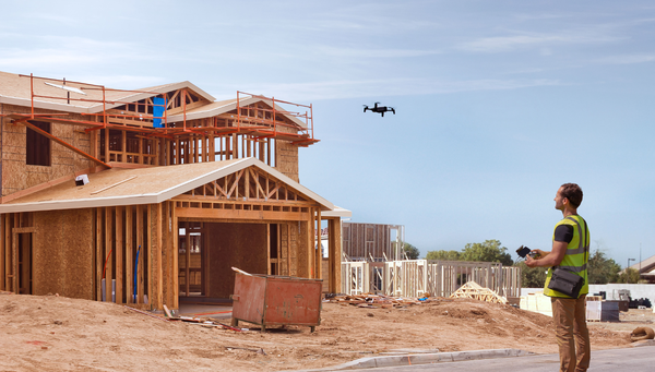 using drones for building work